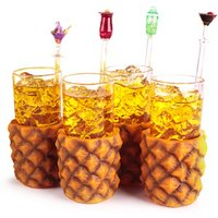Pineapple Glasses 10oz / 285ml (Pack of 4) - Pineapple Gifts