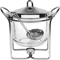 Food & Drink Glass Hot Pot with Ladle 4ltr