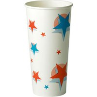 Star Design Paper Cups 22oz / 630ml (Sleeve of 50) - Design Gifts