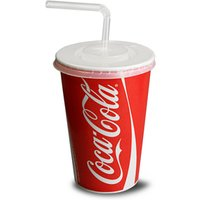Coca Cola Paper Cups Set 16oz / 450ml (Set of 50) - Coca Cola Gifts