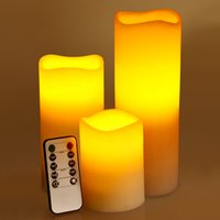 Wave Rim Crystal LED Candle Set Ivory - Candle Gifts