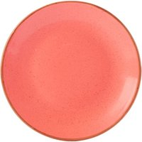 Seasons Coral Coupe Plate 24cm (Case of 6) - Coral Gifts