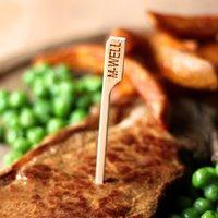 Bamboo Steak Picks 3.5inch Medium Well (Pack of 576)