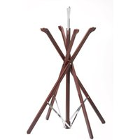 Folding Tray Stand Mahogany Finish (Single) - Cooking Gifts
