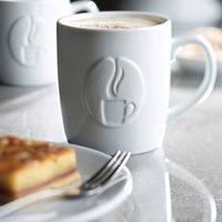 Utopia Java Embossed Mugs 9oz / 270ml (Set of 6) - Mugs Gifts