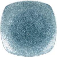 Studio Prints Raku Square Plates Topaz Blue 10inch / 25.2cm (Case of 12)