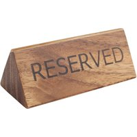 Acacia Reserved Sign (Case of 12) - Cutlery Gifts