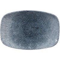 Studio Prints Raku Chef's Oblong Plate Topaz Blue 9.9inch / 23.7cm (Set of 12)
