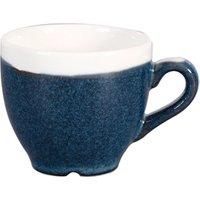 Churchill Monochrome Sapphire Blue Espresso Cups 3.5oz / 100ml (Case of 12) - Cups Gifts