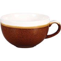 Churchill Monochrome Cinnamon Brown Cappuccino Cups 8oz / 227ml (Case of 12) - Cinnamon Gifts