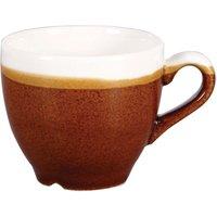 Churchill Monochrome Cinnamon Brown Espresso Cups 3.5oz / 100ml (Case of 12) - Cinnamon Gifts