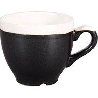 Churchill Monochrome Onyx Black Espresso Cups 3.5oz / 100ml (Case of 12) - Cups Gifts