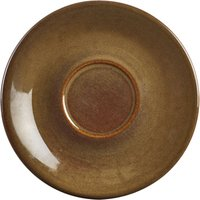 Terra Stoneware Rustic Brown Saucers 6inch / 15cm (Case of 12)