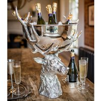 Large Punch Bowl with Stag Stand (Single)