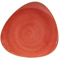 Churchill Stonecast Berry Red Triangular Plate 10.5inch / 26.5cm (Case of 12)