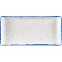 Churchill Stonecast Hints Indigo Rectangular Buffet Trays 11.8inch / 30cm (Set of 6) - Indigo Gifts