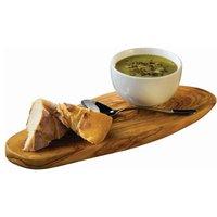 Olive Wood Rustic Platter 26 x 13cm (Single) - Drinkstuff Gifts