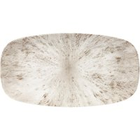 Studio Prints Stone Agate Grey Oblong Chefs Plate 13.75inch / 35.5cm (Case of 6)