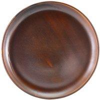 """Terra Porcelain Coupe Plates Rustic Copper 10.8"""" / 27.5cm (Set of 6)"""