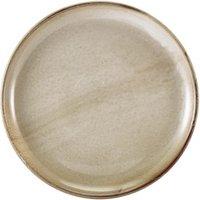 """Terra Porcelain Coupe Plates Grey 10.8"""" / 27.5cm (Set of 6)"""