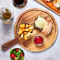Acacia Wood Serving Board 28.5cm (Case of 6)