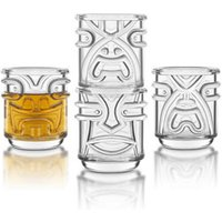 Final Touch Tiki Shot Glasses Clear 2oz / 60ml (Case of 36) - Shot Glasses Gifts