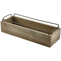 Industrial Wooden Condiment Crate 13inch / 34cm (Single)