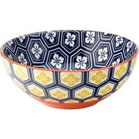 Cadiz Blue & Orange Bowl 6.3inch / 16cm (Case of 6) - Bowl Gifts