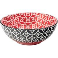 Cadiz Red & Black Bowl 6.3inch / 16cm (Case of 6) - Bowl Gifts