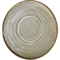 Terra Porcelain Saucer Grey 5.7inch / 14.5cm (Pack of 6) - Drinkstuff Gifts
