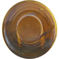 Terra Porcelain Saucer Rustic Copper 5.7inch / 14.5cm (Case of 24) - Drinkstuff Gifts