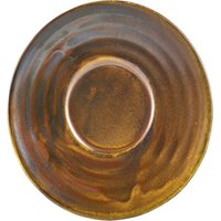 Terra Porcelain Saucer Rustic Copper 4.5inch / 11.5cm (Case of 72) - Drinkstuff Gifts