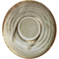 Terra Porcelain Saucer Grey 4.5inch / 11.5cm (Pack of 6) - Drinkstuff Gifts