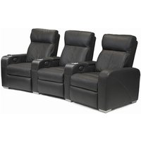 Premiere Home Cinema Seating (5 Seater Brown Leather) - Film Gifts