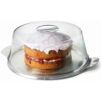 Plastic Cake Dome - 30cm (Cake Dome & Metal Plate - Set of 6) - Cake Gifts