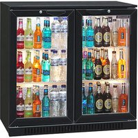 Blizzard BAR-2 Bottle Cooler Black (Hinged Doors)