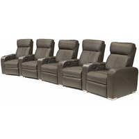 Premiere Home Cinema Seating - 5 Seater Brown - Cinema Gifts