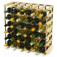 Traditional Wooden Wine Racks - Light Oak (6x6 Hole [42 Bottles]) - Wooden Gifts