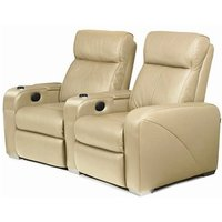 Premiere Home Cinema Seating - 2 Seater Beige - Beige Gifts