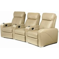 Premiere Home Cinema Seating - 3 Seater Beige - Beige Gifts