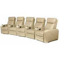 Premiere Home Cinema Seating - 5 Seater Beige - Beige Gifts