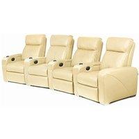 Premiere Home Cinema Seating - 4 Seater Cream - Home Cinema Gifts