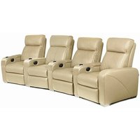 Premiere Home Cinema Seating - 4 Seater Beige - Beige Gifts