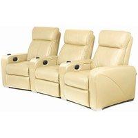 Premiere Home Cinema Seating - 3 Seater Cream - Home Cinema Gifts