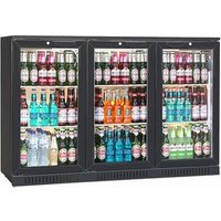 Blizzard BAR-3 Bottle Cooler Black (Sliding Door)
