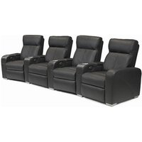 Premiere Home Cinema Seating (4 Seater Black Leather) - Film Gifts