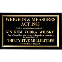35ml Weights & Measures Act Sign - Weights Gifts
