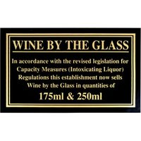 175ml & 250ml Weights & Measures Act Sign