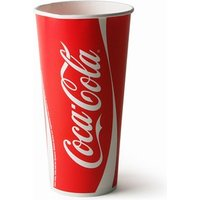 Coca Cola Paper Cups 22oz / 630ml (Case of 1000) - Coca Cola Gifts