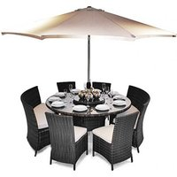 ES Dallas Patio Oval Dining Table Set